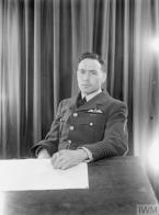 VICTORIA CROSS WINNERS: 1939-1945. (CH 5669) Portrait of John Dering Nettleton RAF, awarded the Victoria Cross: Germany, 17 April 1942. Copyright: © IWM. Original Source: http://www.iwm.org.uk/collections/item/object/205069945