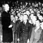 Vera Lynn (later Dame Vera Lynn) with British servicemen in World War II