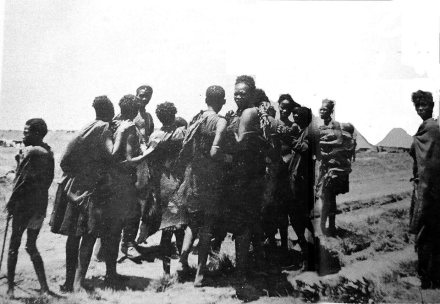 black women on way to concentration camp
