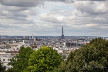 Eiffel+Tower+from+Parc+de+Belleville,+Paris