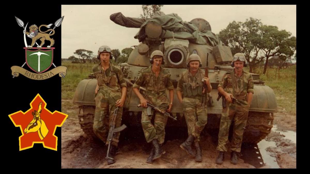 Soviet made Libyan tanks seized by South Africa and gifted to Rhodesia